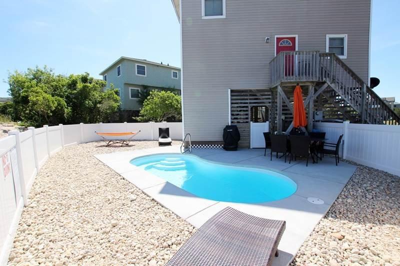 Bench, Bouwen, Villa, balkon, zwembad