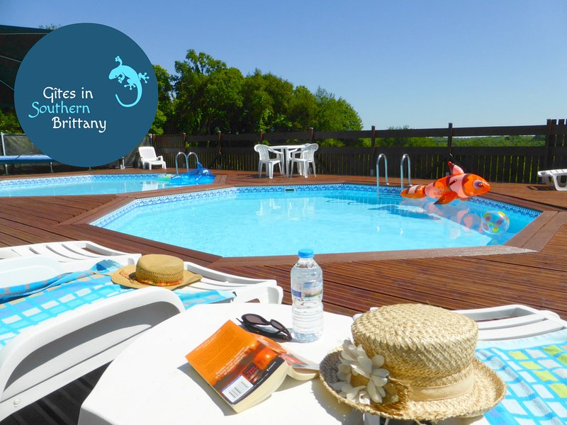 Relax by the heated pools with magnificent views
