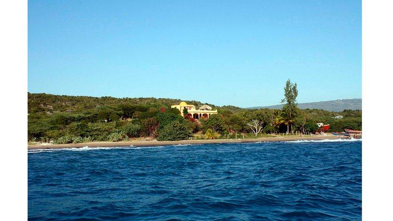 View of Buccaneer Villa from the ocean.