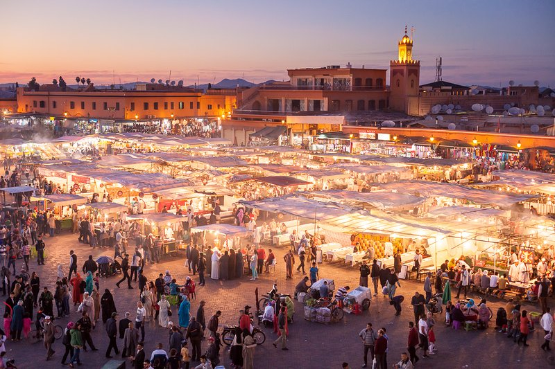 Jemaa el Fna (dem berühmten Platz)