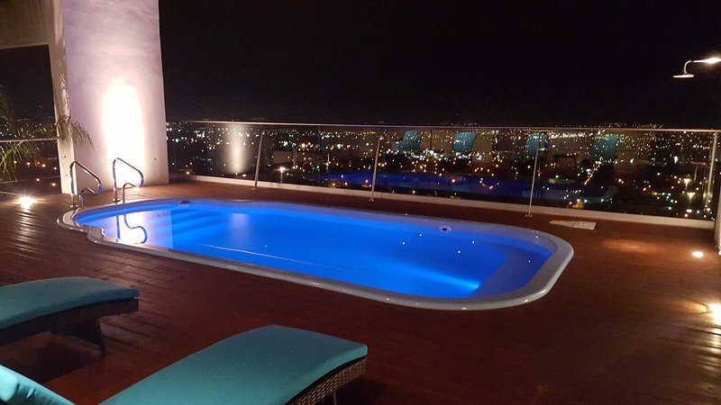 Pool overlooking the city