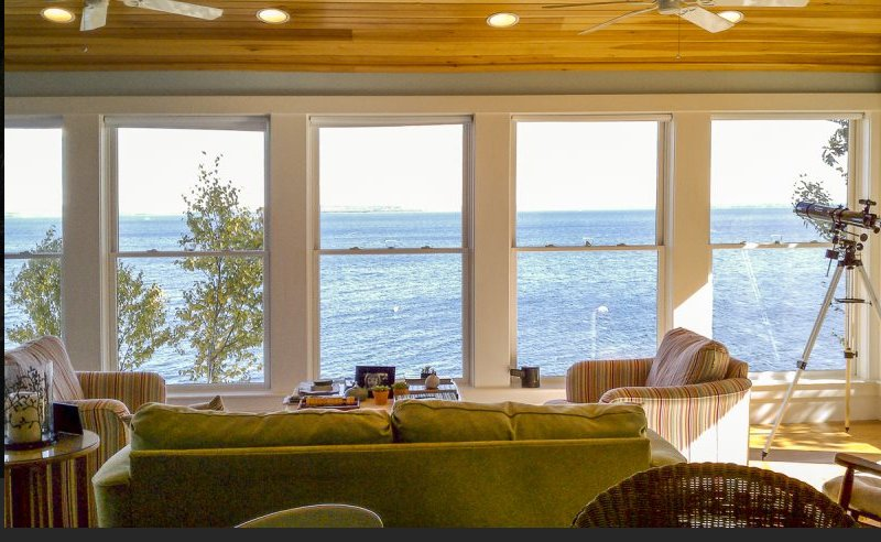 Living room faces ocean