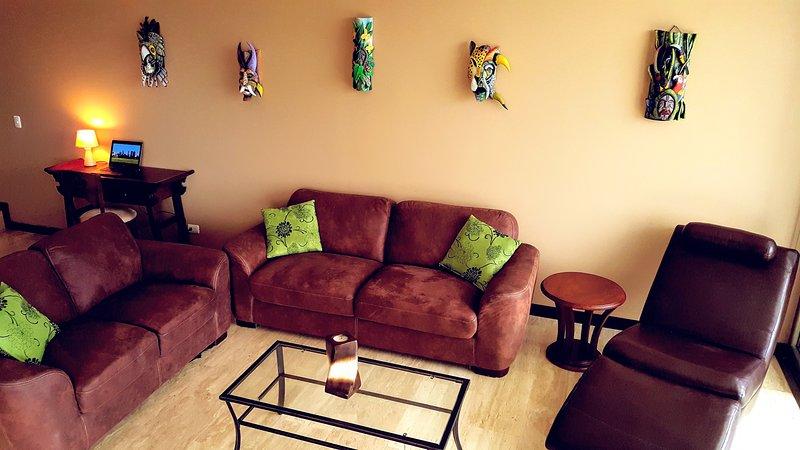 Lower level living room.