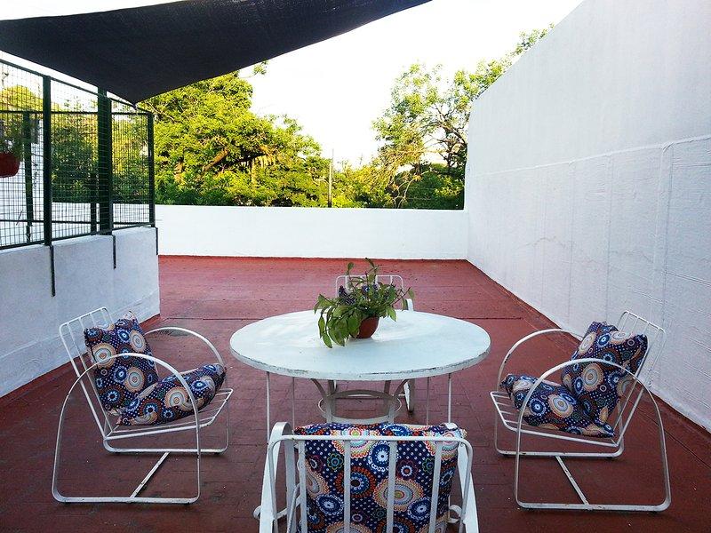 Elegante apartamento con patio  y terraza  Vista Parque Lezama San Telmo, holiday rental in Luis Guillon