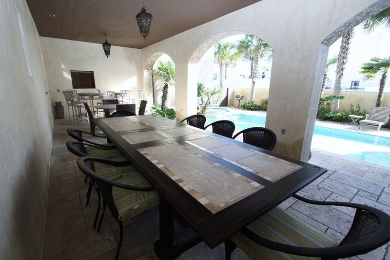 Poolside Loggia Offers Cool Place to Relax or Dine