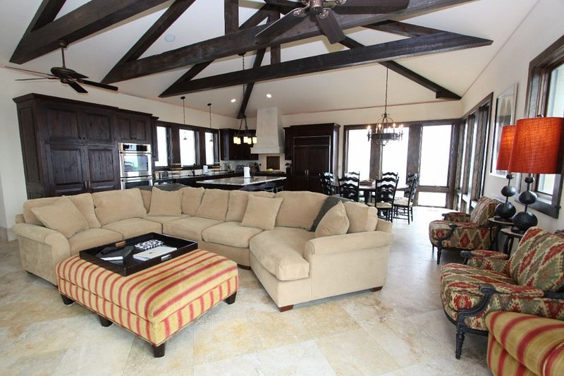 Comfortable Living Area with Large LCD TV