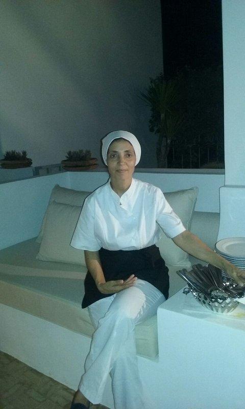 Meriame, housekeeper of the villa ..