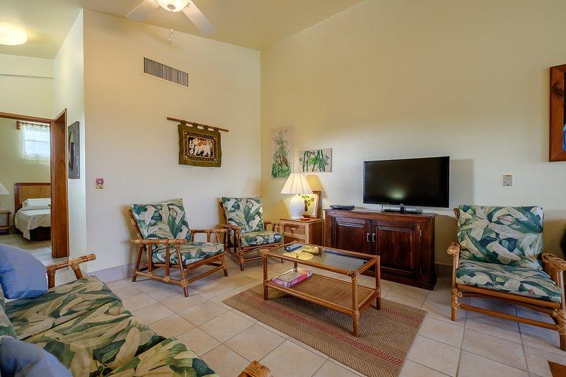 Le salon loft adjacent est idéal lorsque vous avez un grand groupe de six à huit personnes!