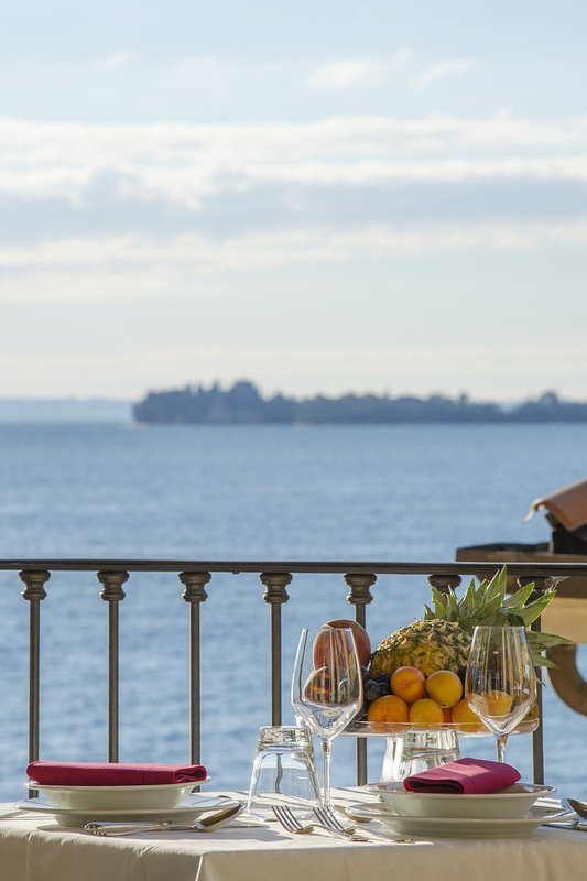 Island of Lake Garda from your large balcony.