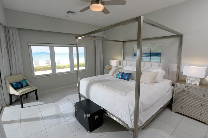 Master suite looking out to the Caribbean