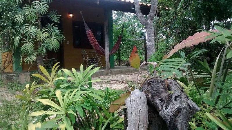 Vista do quintal e varanda. Desfrute esse contato com a natureza!