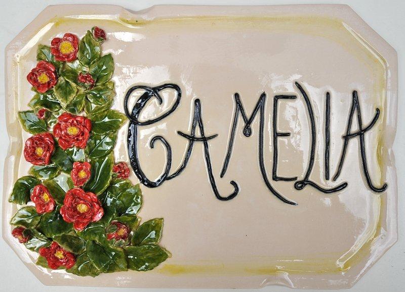 Villa CAMELIA: - The external ceramic plate of the Villa Camelia.