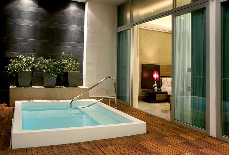 Large balcony with plunge pool