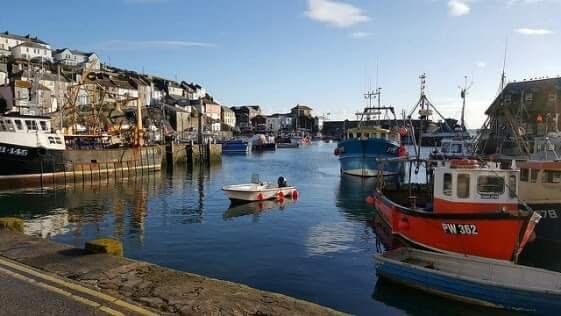 Mevagissey harbour. The view from one of the restaurants, while I was having breakfast one morning