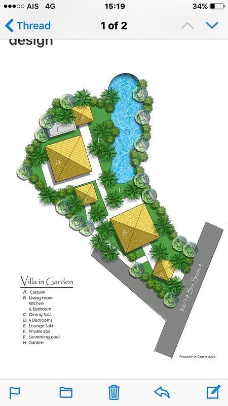 Plan de la villa Superficie