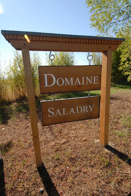 Domaine Salary sign at front entrance