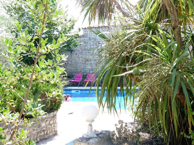 Villa del Re: piscina y jardín