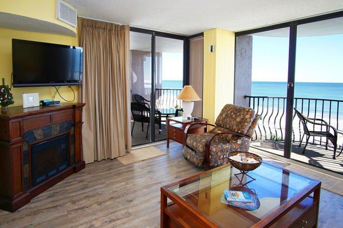 We have 2 Ocean Front balconies.