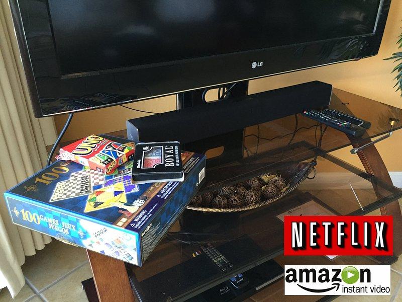 """Spiele, 29 """"Bluetooth Soundbar, TV mit DVD, Kabel, Netflix und Amazon Prime"""