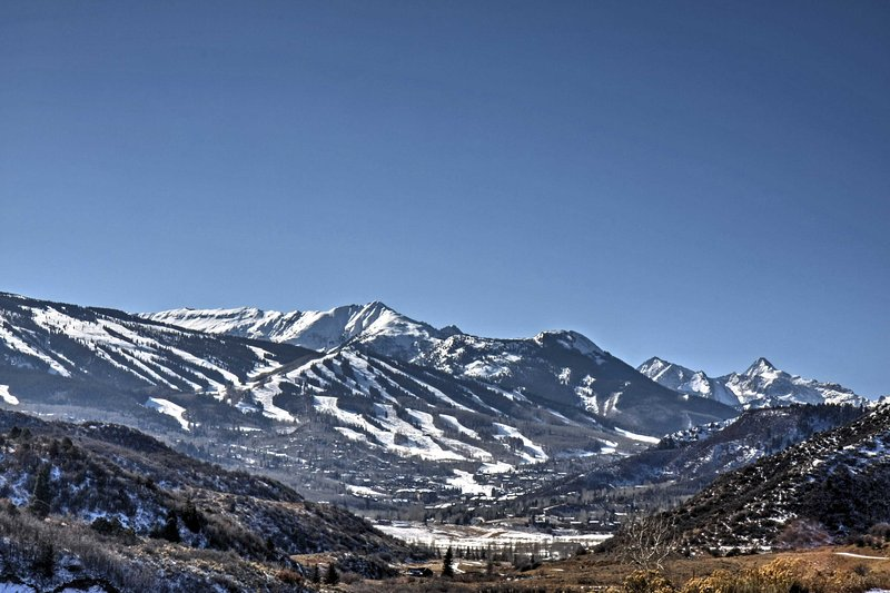 The views can't be beaten with this amazing vacation rental condo in Snowmass!