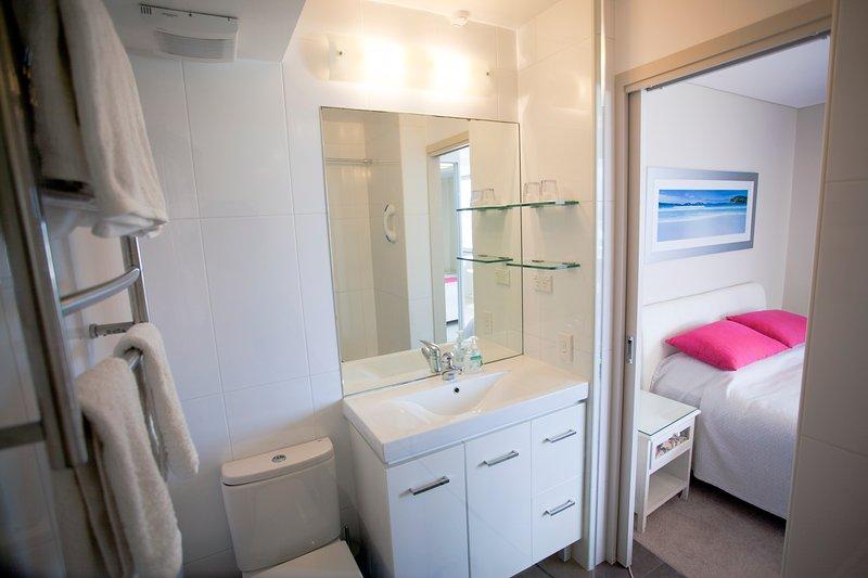 Shampoo, body-wash, hair-dryer, iron, ironing board provided