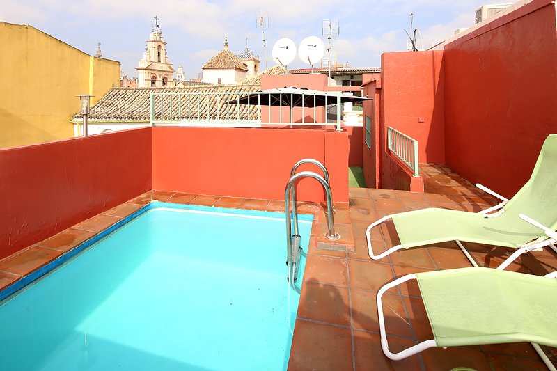 Terrace with private plunge pool (3 x 2 metres).
