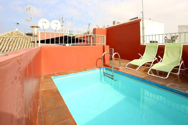On the upper terrace is the plunge pool of 2 by 3 meters.