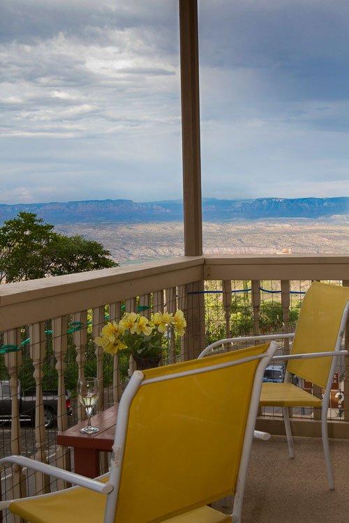 Balcony with amazing views of the Sedona Verde Valley.