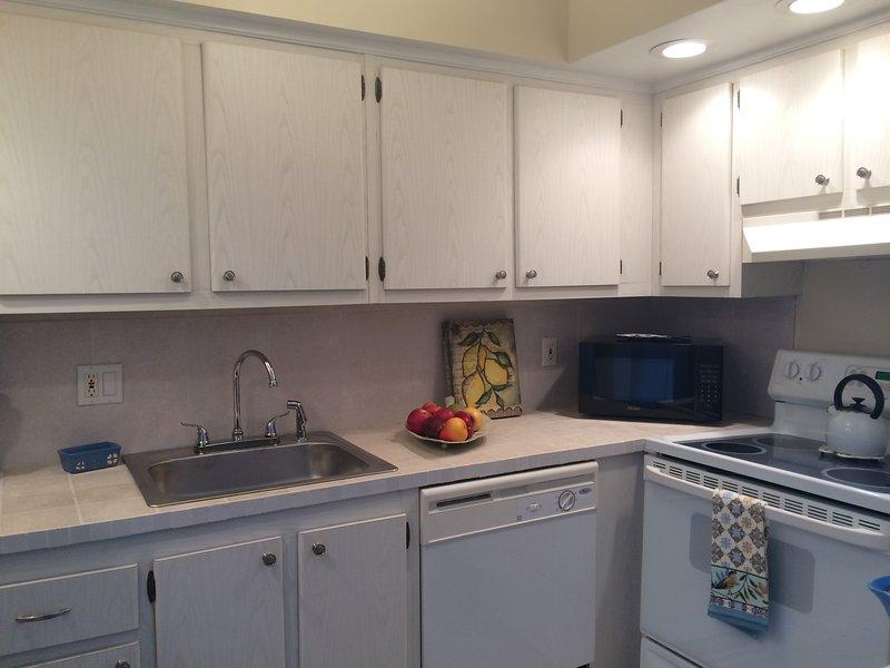 Clean White Kitchen with Newer  Appliances