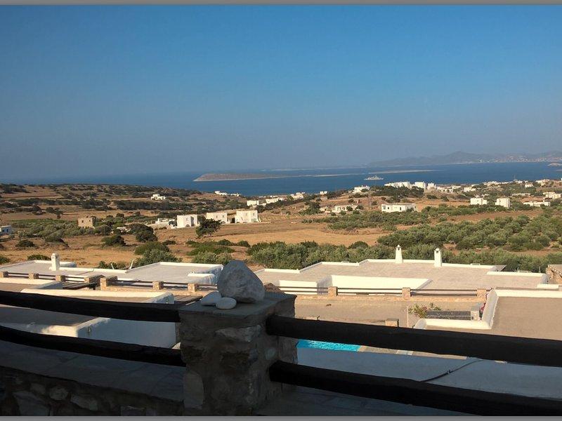 beautiful Italian-design villa with enormous private terrace & panoramic seaview, holiday rental in Soros