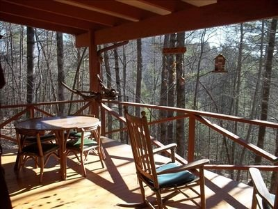 Charming Sherwood Forest Cottage overlooking Trout Lake, holiday rental in Balsam Grove