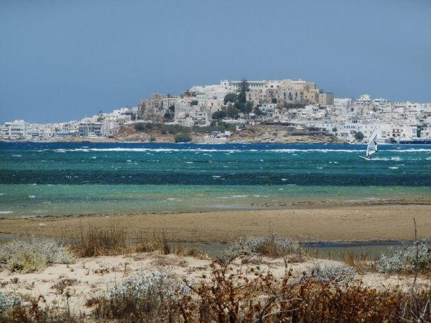 One of the best windsurfing spots in the Cyclades at 550 m.