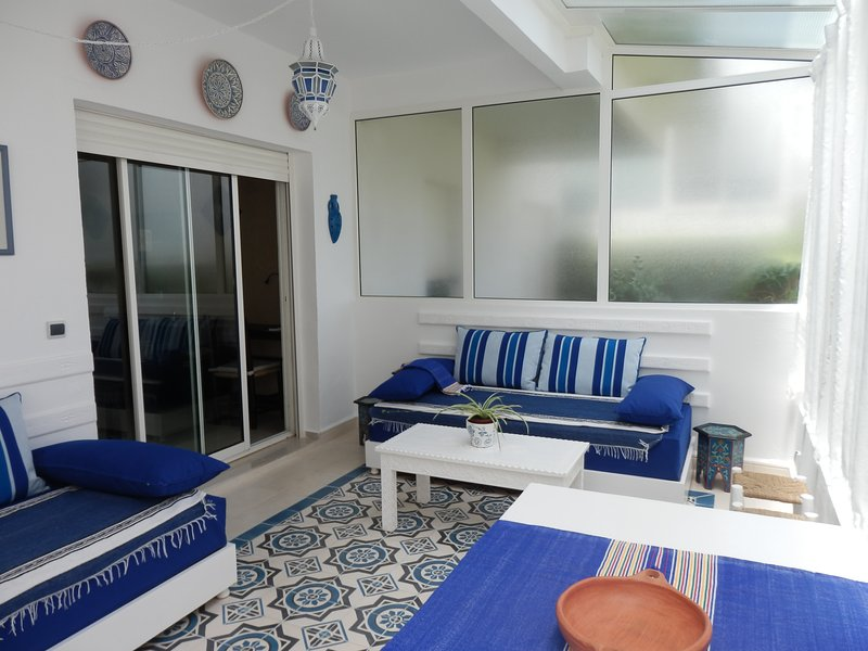 The veranda, a bright and relaxing