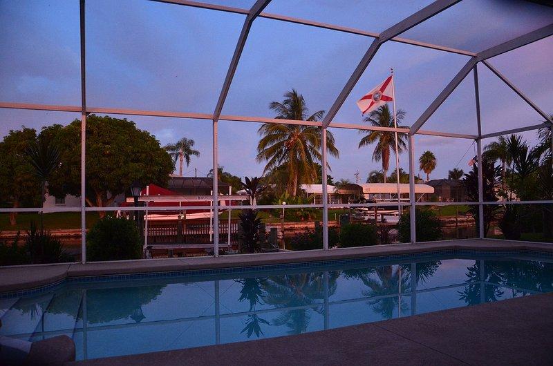 Vacation Home Villa Sinatra Cape Coral - view pool night 01