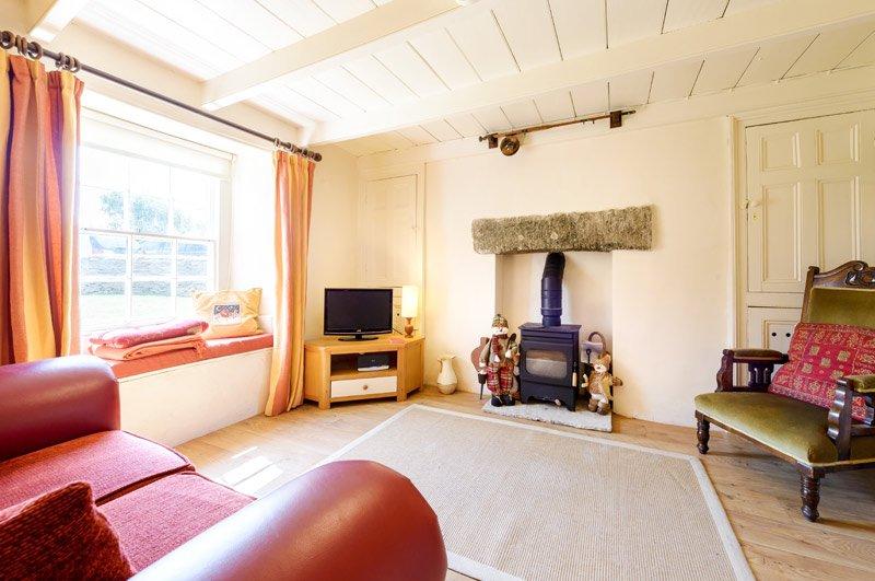 Sitting Room with original Georgian window and cupboards