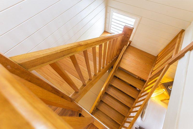 spacious staircase landing