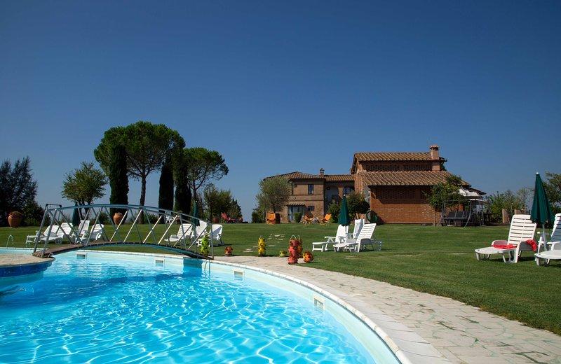 Appartamento Bilocale A con piscina vicino Siena, casa vacanza a Taverne d'Arbia