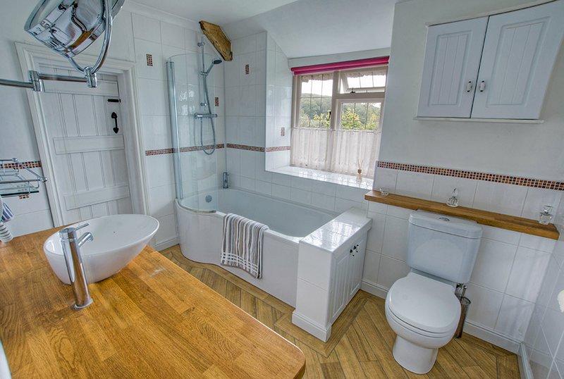 Banheiro da família: 'Jack e Jill' arranjo.
