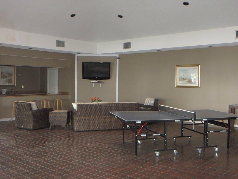 Het clubhuis heeft ook een fitnessruimte en maïs toss