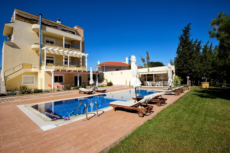 Rhodes Luxury Kallithea Breeze Villa with Ozone Pool & Private small Forest!, holiday rental in Koskinou