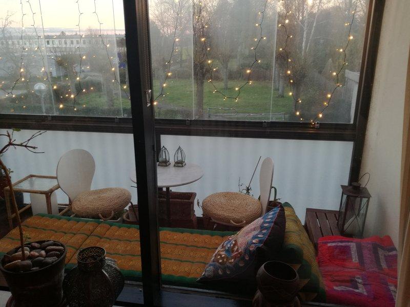 Balcon heure d'hiver