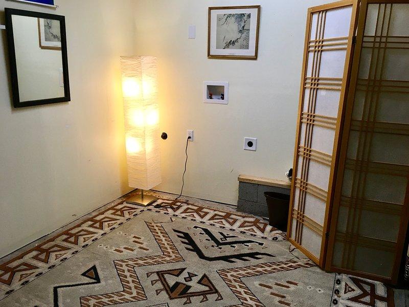 La stanza bonus è perfetto per lo yoga, esercizio fisico, ecc e può essere impostato con il nostro materasso ad aria a schermo intero