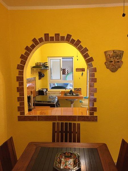 View into kitchen.