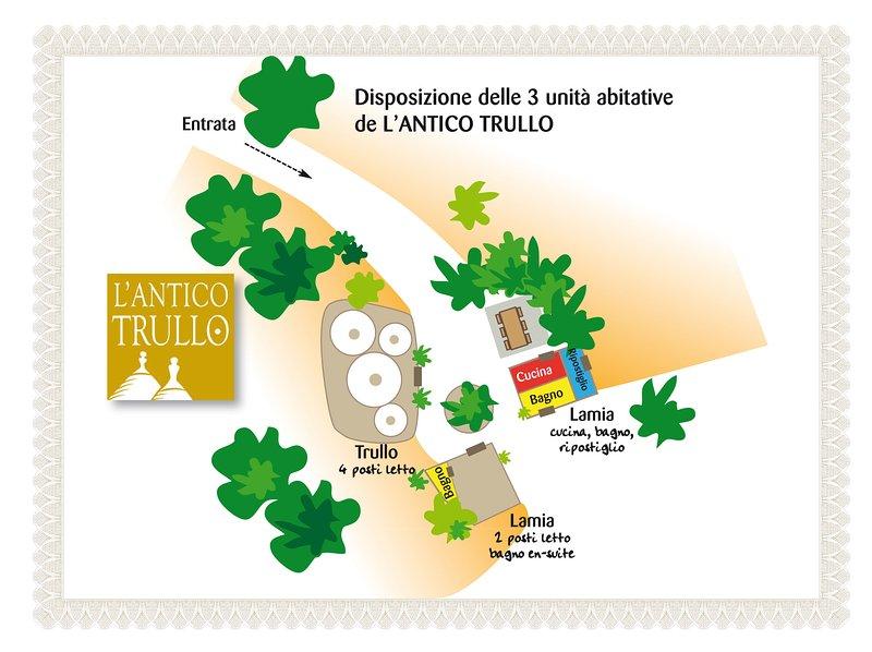 Karta över Antico Borgo Trullo