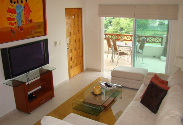 Living room with A/C, Sky TV and terrace access