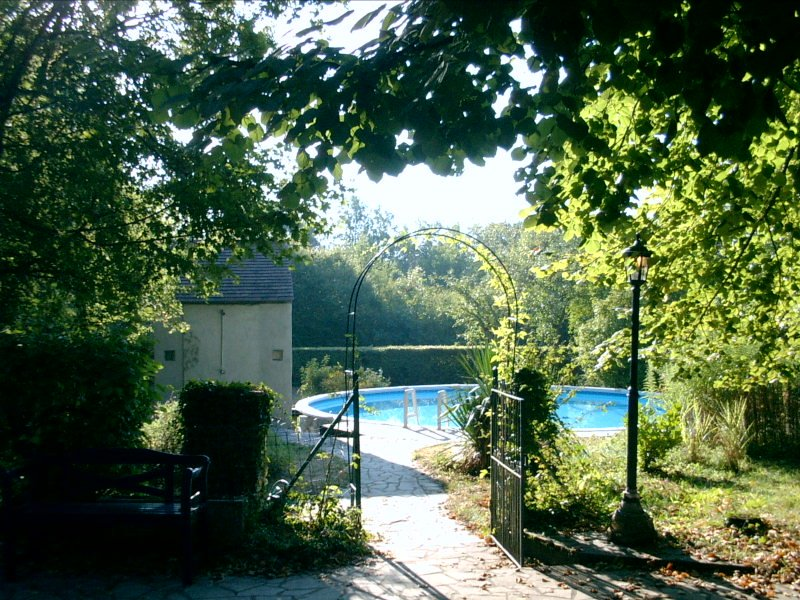 Access gate to the pool