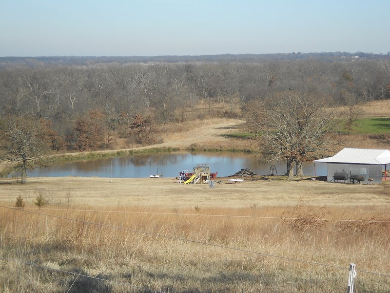 Pond with fishing, paddle boating and playground