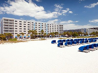 White sand, sunshine and warmth await you at St. Pete's beach.
