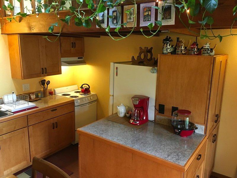 La cucina dispone di ampi armadi, ripiani in granito, e tutti gli elettrodomestici è necessario