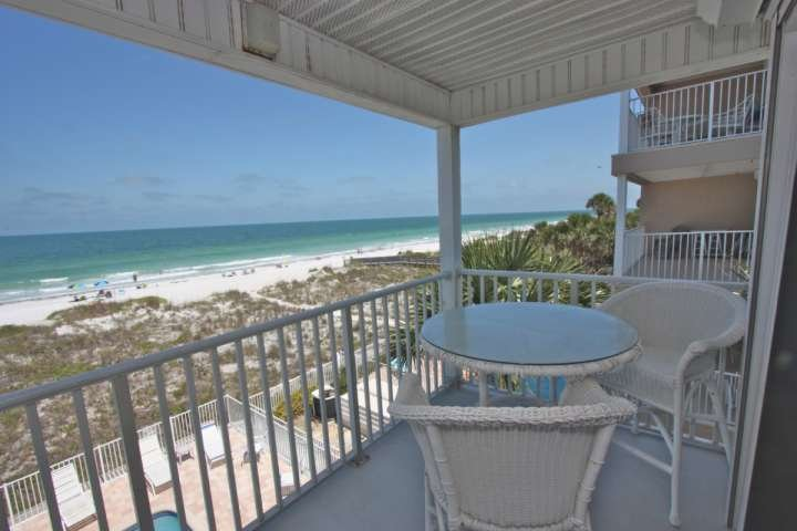 Private balcony overlooking the beach.